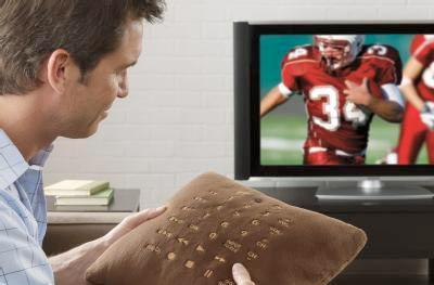 Universal remote arrives within a pillow, makes channel surfing hip again