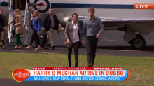 The royal couple touch down in Dubbo