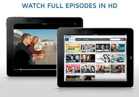 CBS brings full episode streaming in HD to iPad, iPhone and iPod touch