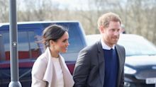 Meghan Markle recycles her Victoria Beckham engagement-shoot sweater for Northern Ireland trip