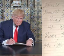 The internet roasts a photo of Donald Trump writing his inauguration speech