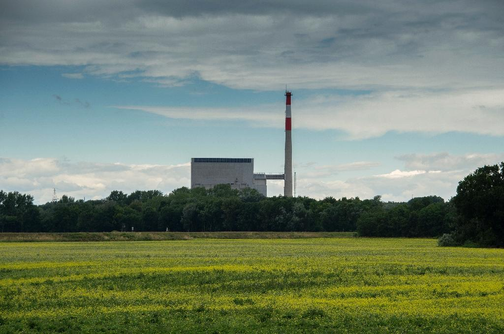 A nuclear power plant was built in Zwentendorf, Austria, but was never used and sits in a sea of green fields and wild flowers by the Danube (AFP Photo/Joe Klamar)