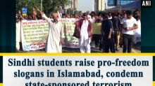 Sindhi students raise pro-freedom slogans in Islamabad, condemn state-sponsored terrorism