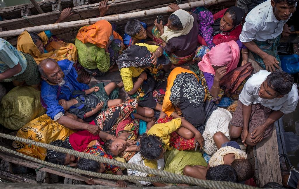 Myanmar has rejected accusations that its military committed atrocities in the crackdown last year that forced more than 700,000 Rohingya to flee over the border to Bangladesh (AFP Photo/Adib Chowdhury)