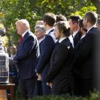Trump uses White House reception with victorious St Louis Blues players to complain about impeachment and Pelosi
