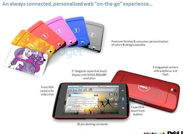Leaked Dell Streak flyer shows multitude of color options, confirmed specifications