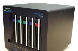 Tranquil PC's SQA-5H home server: 5 bays, Atom 330, the works