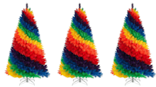 Rainbow trees are here to brighten up your home this Christmas
