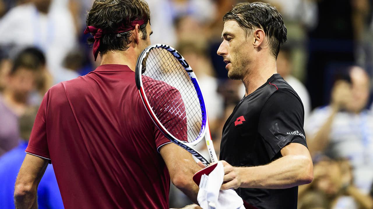 John Millman makes brutal history with Federer-Djokovic-Nadal hat-trick