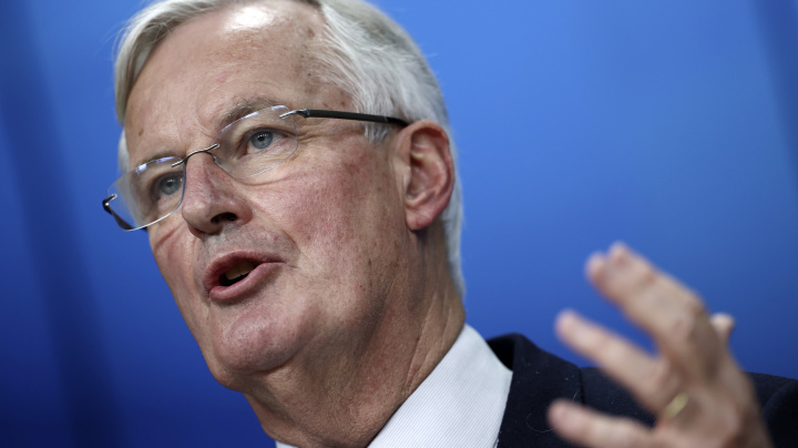 Pound up as EU's Barnier says Brexit deal 'within reach'