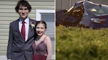 Smiling last photo of teens before tragic crash on the way to dance