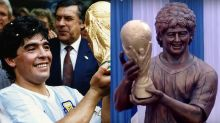 Diego Maradona's statue gives Cristiano Ronaldo's bust a run for tarnished bronze
