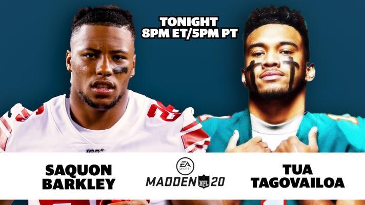 Saquon Barkley + Tua Tagovailoa Play Madden 20