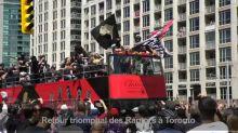 NBA: une marée humaine à Toronto pour la parade des Raptors