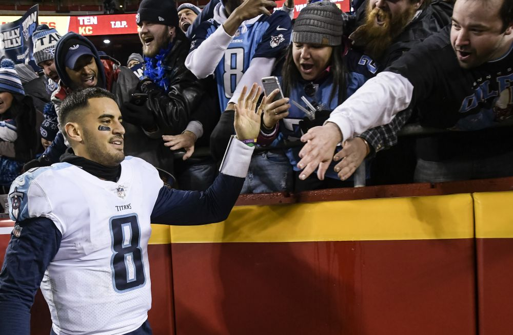 Marcus Mariota and the Titans will be road underdogs again this Saturday. (AP)