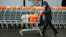 Grocers and pubs drive London markets higher as pound dips again