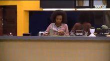 Thelma, do 'BBB20', chora de fome e família da sister culpa Lucas pelas '0 estalecas'