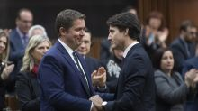 Andrew Scheer takes one last shot at Justin Trudeau in resignation speech