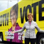 Nicola Sturgeon claims she alone offers 'serious leadership' as poll says SNP on course for Holyrood majority