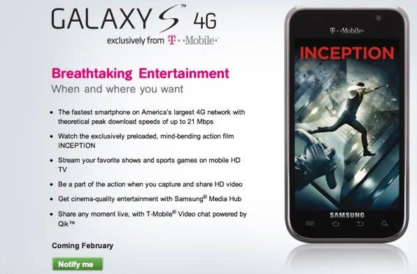 T-Mobile promises Samsung Galaxy S 4G for launch this month