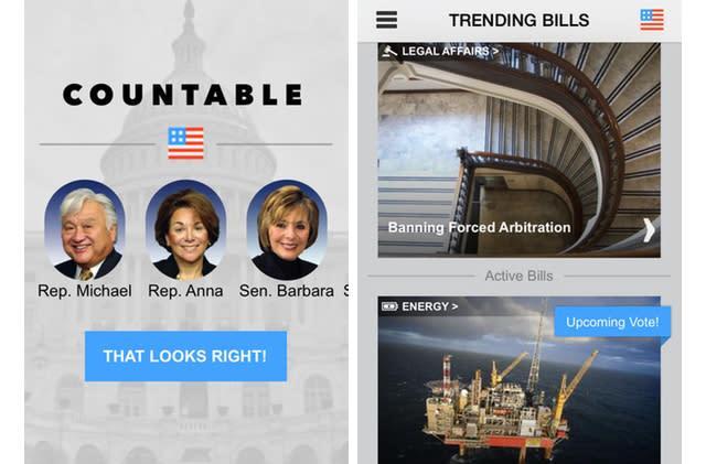 Countable makes following Congress easy as long as you use Facebook