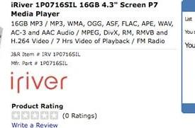 iriver P7 shows up for US pre-order