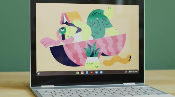 A new Chromebook wallpaper on Chrome OS 87