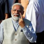 Indian PM votes in general election, trumpets national security