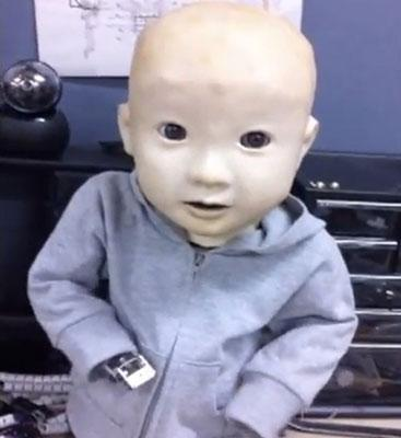 Baby robot Affetto gets a torso, still gives us the creeps (video)