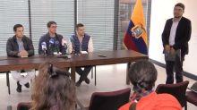 Familias buscan recuperar cuerpos de periodistas ecuatorianos