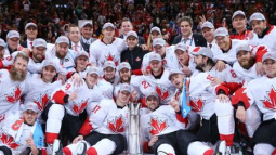 Ice hockey-Canada stage late comeback to win World Cup