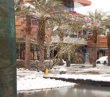 Winter storm brings rare snowfall to the Las Vegas Strip