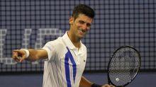 Pain in the neck: Djokovic wins post-hiatus debut; Keys out
