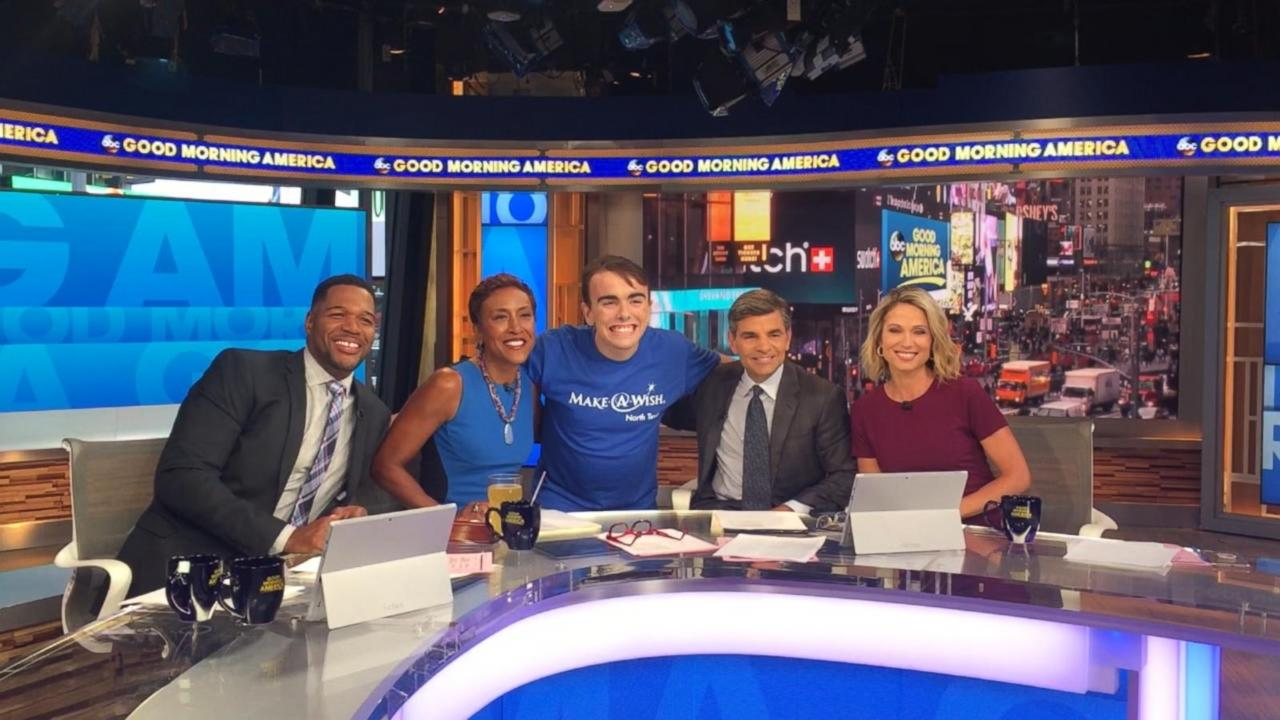 Good Morning America Live Tickets : Teen with cancer granted wish to visit good morning