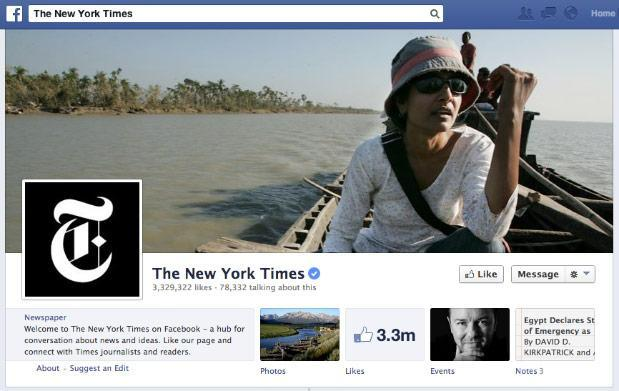 With its website offline, The New York Times begins posting articles on Facebook