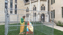 Church protests Trump's immigration policy by 'detaining' Jesus, Mary, and Joseph
