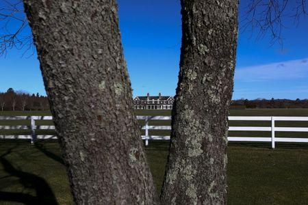 A house is seen on a private property in East Hampton, New York, March 16, 2016. REUTERS/Jeffrey Basinger