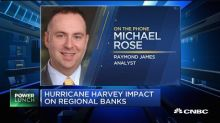 Regional banks to take a hit from Hurricane Harvey