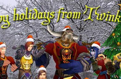 Twink Info giving away gifts for Winter Veil