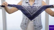 DIY: Cinco formas modernas de llevar una pañoleta