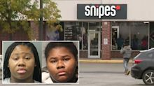 Sisters 'stab store security guard 27 times' after being asked to wear a mask