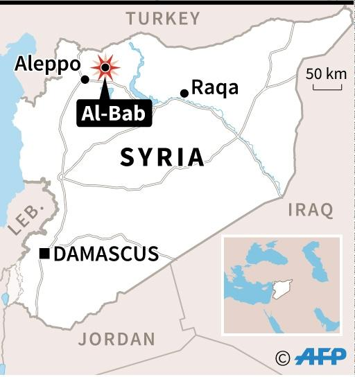 Rebels now control 40 percent of the Syrian town of Al-Bab according to Turkish newspaper Hurriyet (AFP Photo/Thomas SAINT-CRICQ)