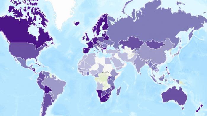 carte quels sont les pays les plus performants en mati re. Black Bedroom Furniture Sets. Home Design Ideas