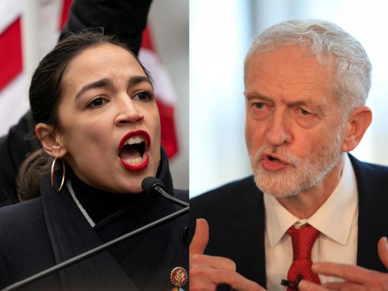 Alexandria Ocasio-Cortez and Jeremy Corbyn share 'lovely' phone call