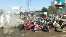COVID-19 Lockdown: Workers in Bareilly Sprayed With Disinfectant