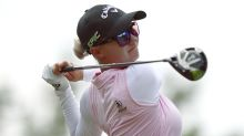 LPGA golfer Madelene Sagström nails caddie in the head with trick shot
