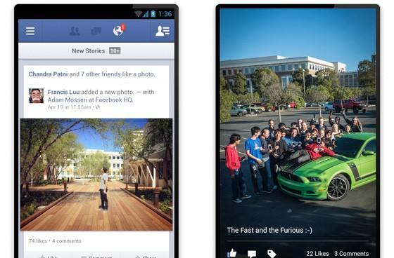 Facebook for Android 2.0 arrives with much faster load times, in-feed photo browsing