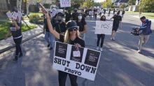 Paris Hilton leads protest calling for closure of Utah school