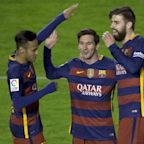 Neymar back in Barcelona and trolling Pique, with Messi's help