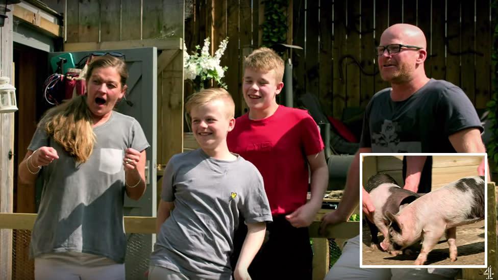 Family slammed for choosing to slaughter pet pigs on reality TV show